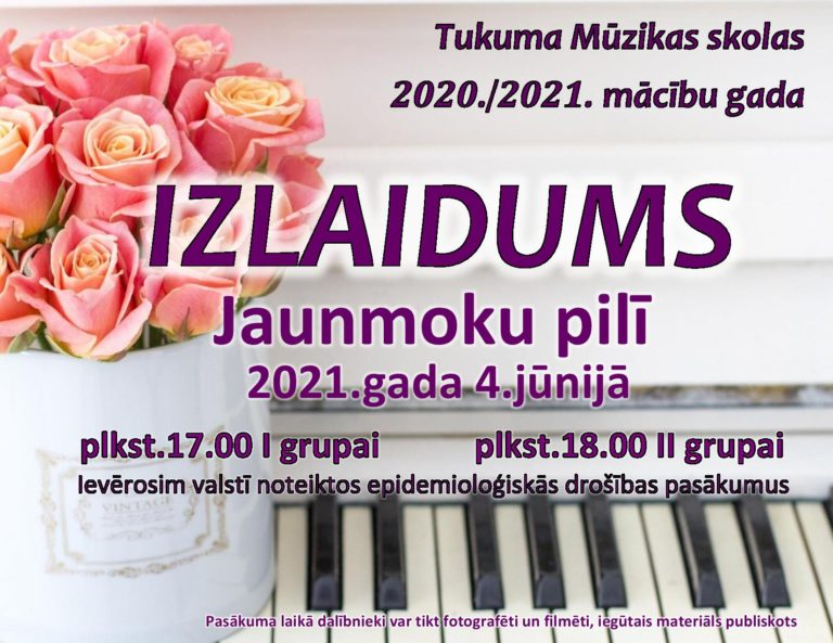 Tukuma Mūzikas skola izlaidums 2020./2021.